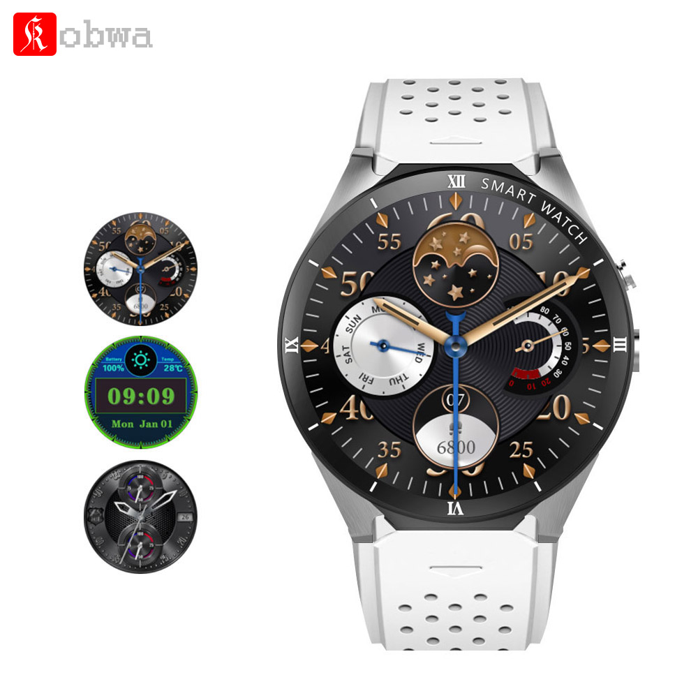 Kobwa KW88 Pro Smart Watch 2MP Camera 1GB RAM 16GB ROM SIM Card 3G WIFI GPS Android 7.0 Heart rate monitor Phone Smartwatch цена