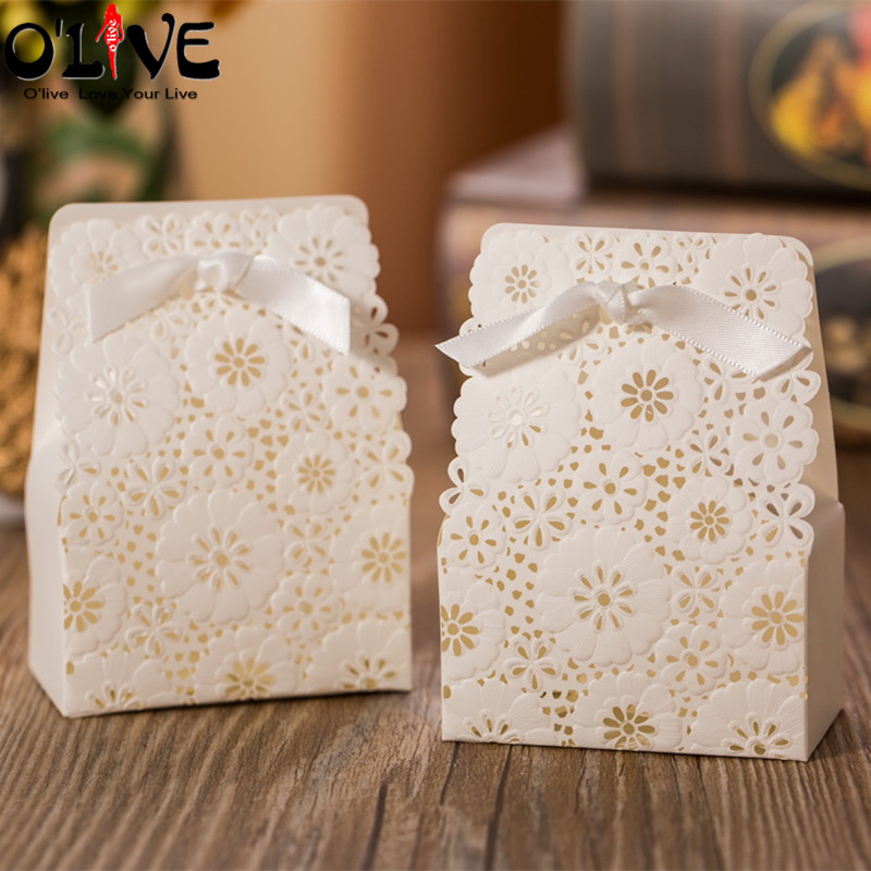 Event & Party Trustful 50 Pcs Gift Bag Candy Box Paper Bags Packaging Party Favors Cardboard Boxes Bonbonniere Wedding Baby Shower Birthday Decoration Gift Bags & Wrapping Supplies