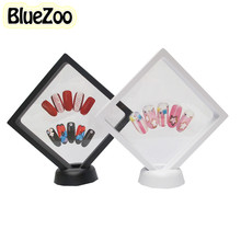 BlueZoo Square Model Frame For Nails Color Card Display Mini Panel Color Display Board For Nail Art Beauty Tips Black