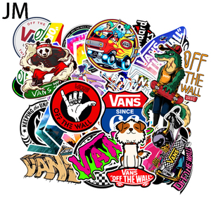 Image 1 - 100 pçs/set dos desenhos animados bonito doodle etiqueta marca skate mala portátil guitarra carro pvc papel de parede à prova dwaterproof água