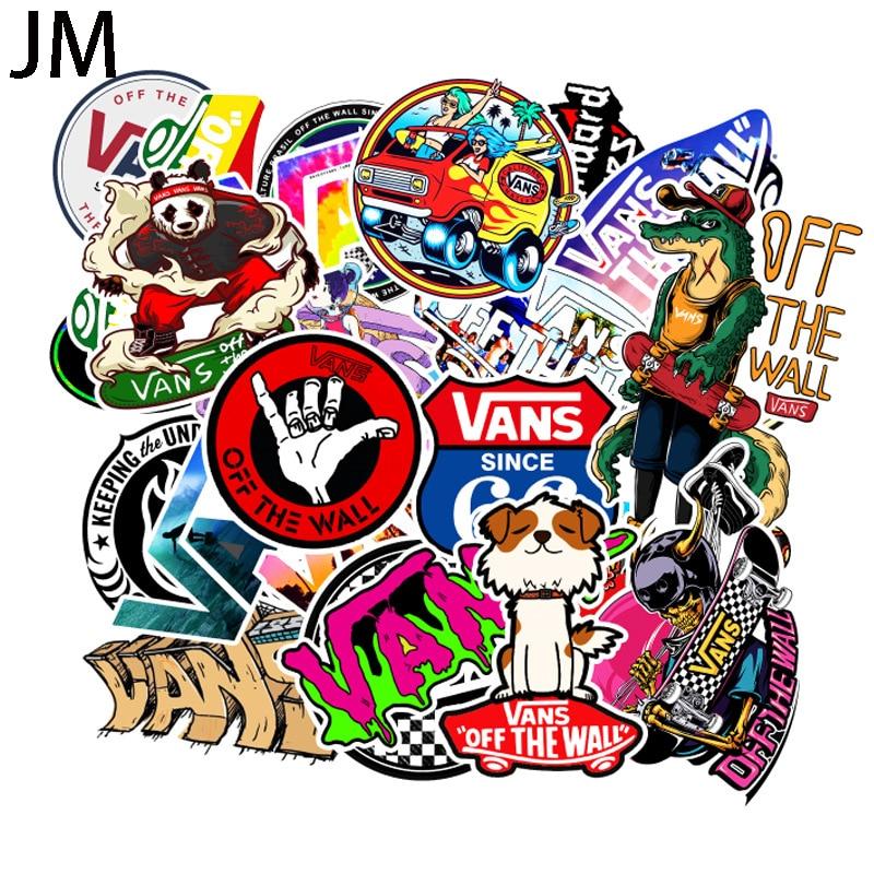 100Pcs/Set Cartoon Cute Doodle Sticker Brand Skateboard Suitcase Laptop Guitar Car PVC Waterproof Wallpaper