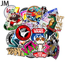 100Pcs/Set Cartoon cute doodle sticker brand skateboard suitcase laptop guitar car PVC waterproof wallpaper(China)