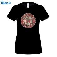 GILDAN Women S O Neck Short Funny T Shirt Slim Fit Top Texaco Retro Logo Auto