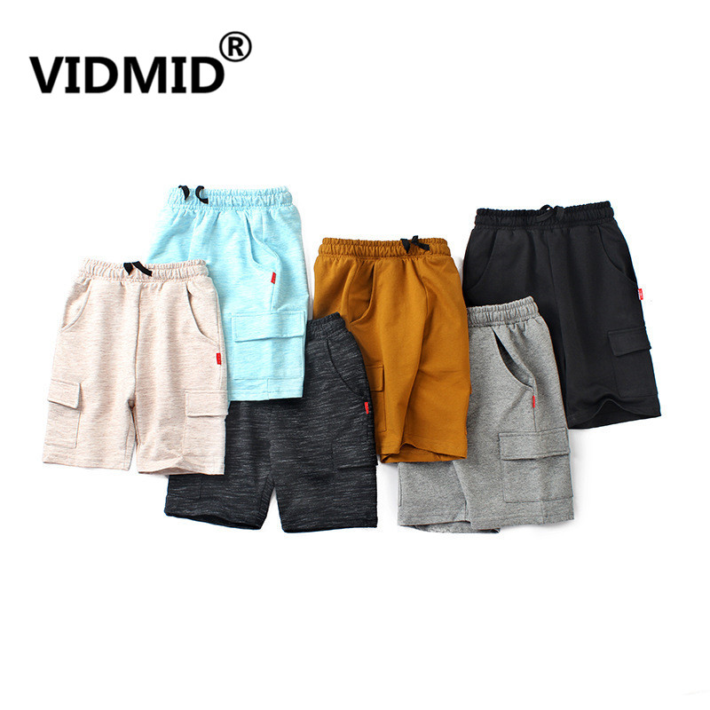 VIDMID Summer Chidren's Clothes Boys Shorts Solid Thin Cotton Baby Boy Beach Shorts For Kids Big Boys Casual Trousers 4102 05