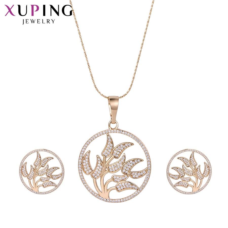 Предложения 11,11 Xuping увлекательный китайский Стиль Ювелирные наборы с окружающей среды Медь для Для женщин подарок на день матери M51-60044