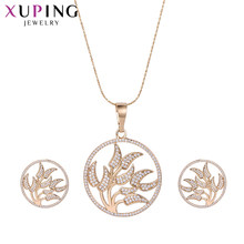 Xuping Fascinating Chinese Style Jewelry Sets With Environmental Copper for Women Mother's Day Gift M51-60044(China)