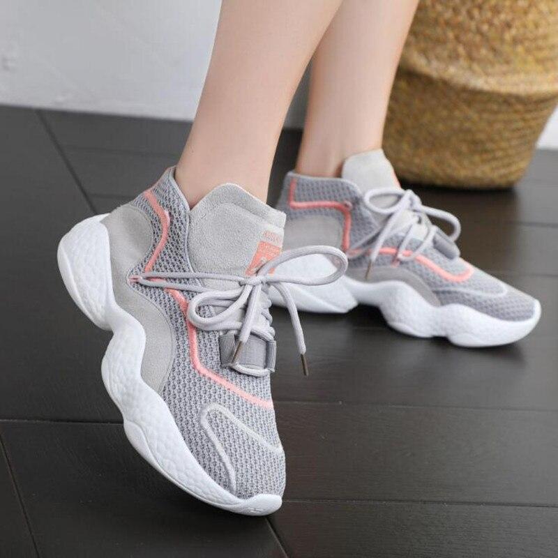 Mesh 3 2019 De Maille 1 Mode Rétro Chaussures Nouveau Sauvages Respirant Zapatillas Simple 2 Plates Deporte Casual Femmes vqvr8Tw
