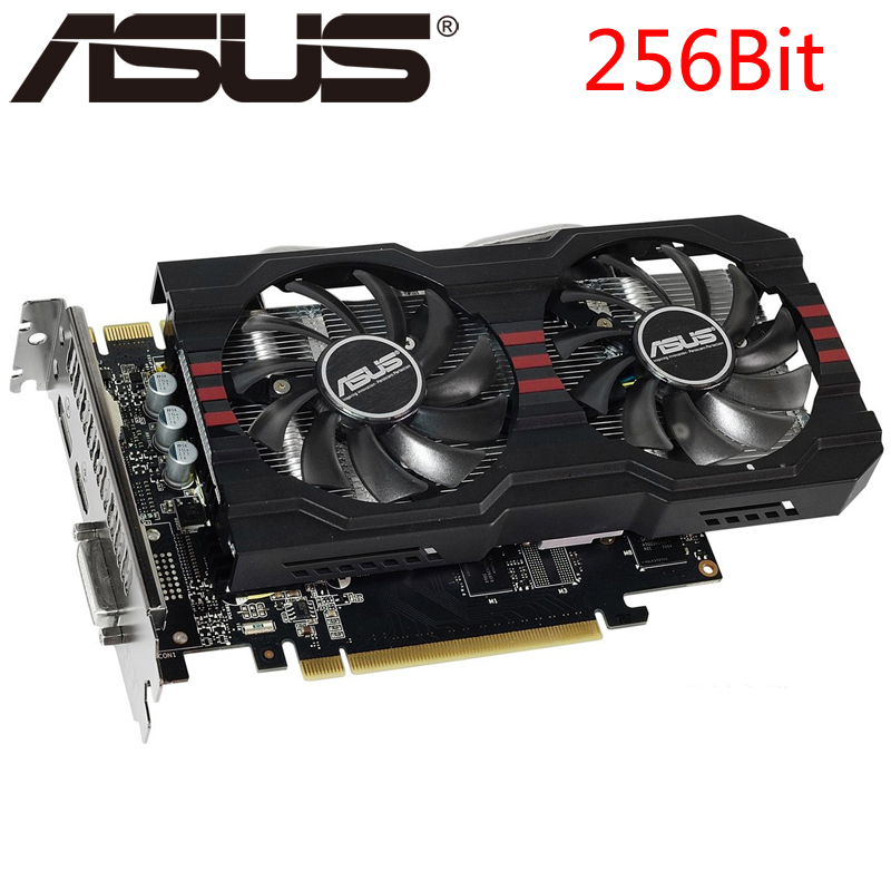 ASUS Graphics Card GTX 760 2GB 256Bit GDDR5 Video Cards for nVIDIA VGA Cards Geforce GTX760 stronger than GTX 750 TI GTX650 Used(China)