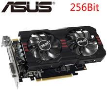 Видеокарта ASUS GTX 760, 2 ГБ 256 бит GDDR5 для nVIDIA, VGA карты, Geforce GTX760 мощнее, чем GTX 750 TI, бывшая в употреблении