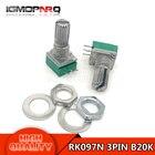 10pcs 6pin RK097G B20K duplex potentiometer audio amplifier sealed potentiometer 15mm handle 20K