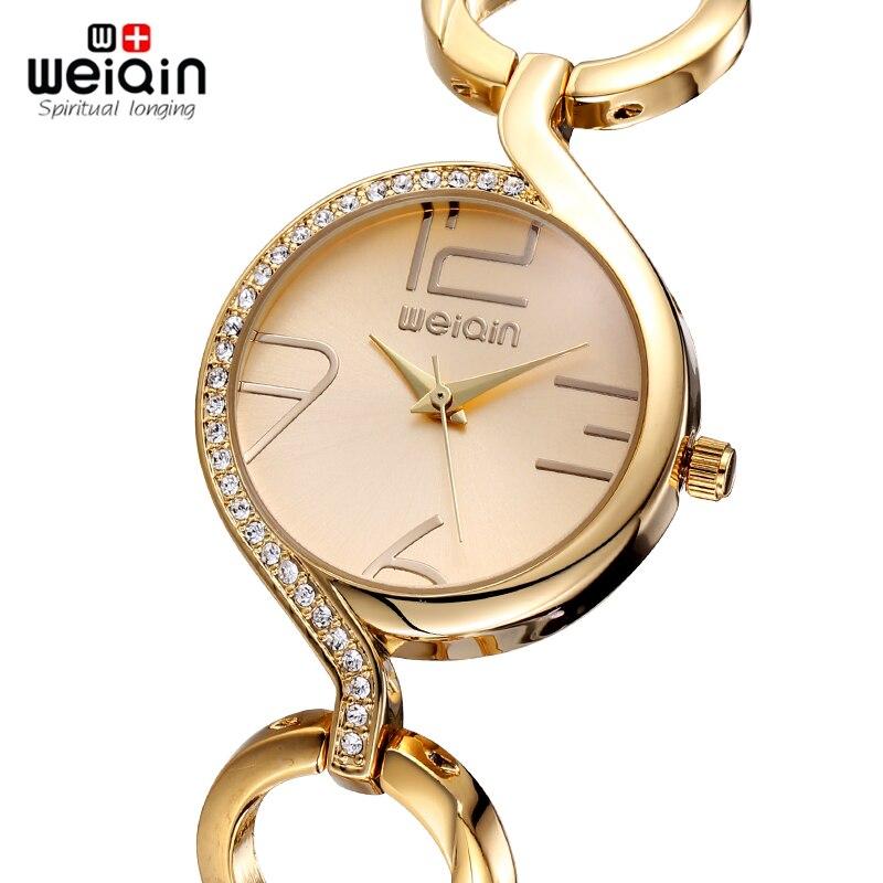WEIQIN Brand New Fashion Ladies Luxury Gold Quartz Armbandsur Kvinnor - Damklockor - Foto 2