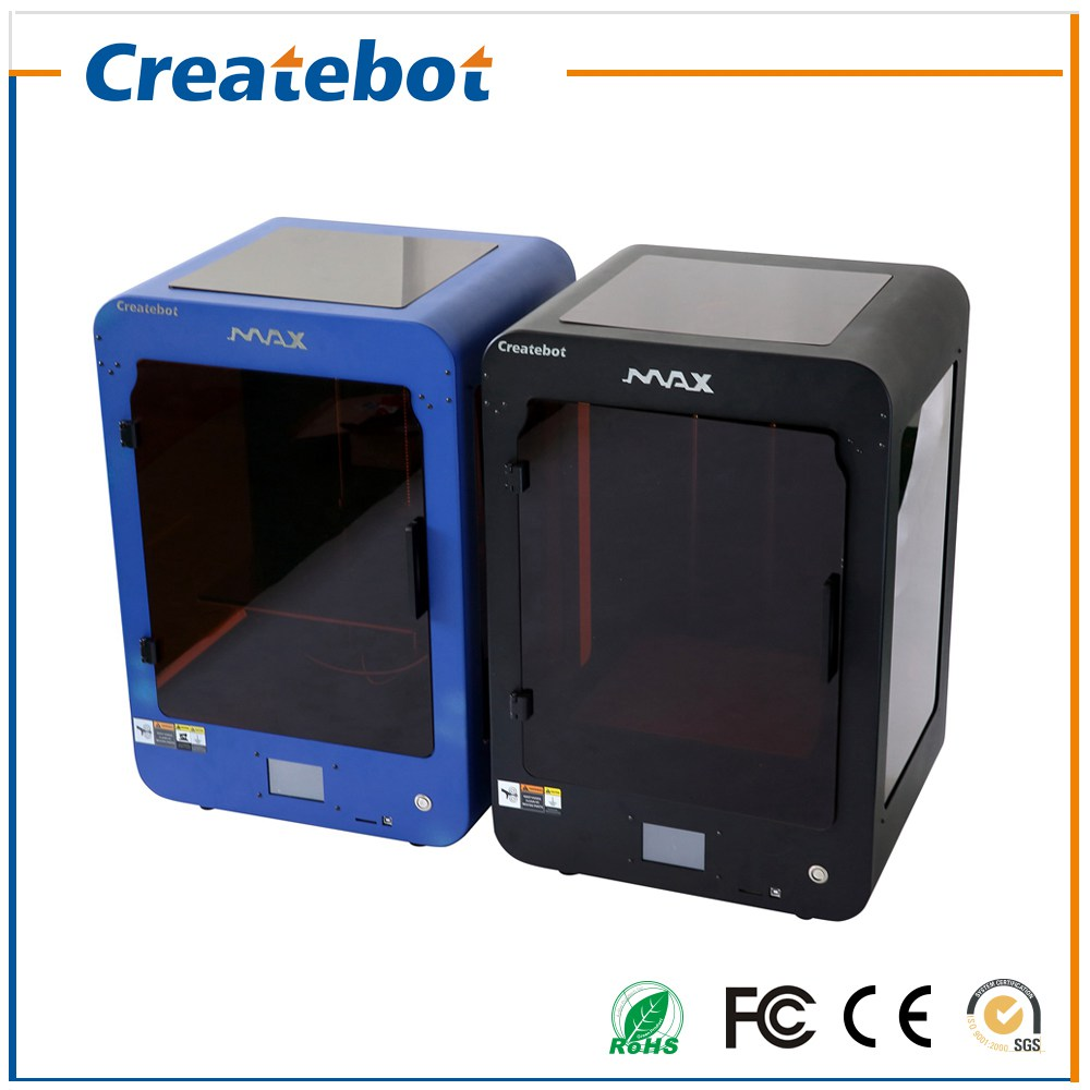 Full Assembled Createbot MAX 3D Printer Kit Single Extruder Touch Screen Heatbed Large Print Size 280*250*400mm impressora 3d