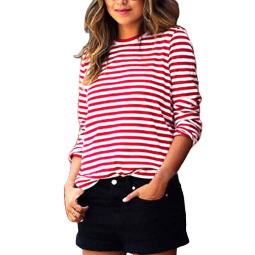Online Get Cheap Womens Red White Striped Shirt -Aliexpress.com ...
