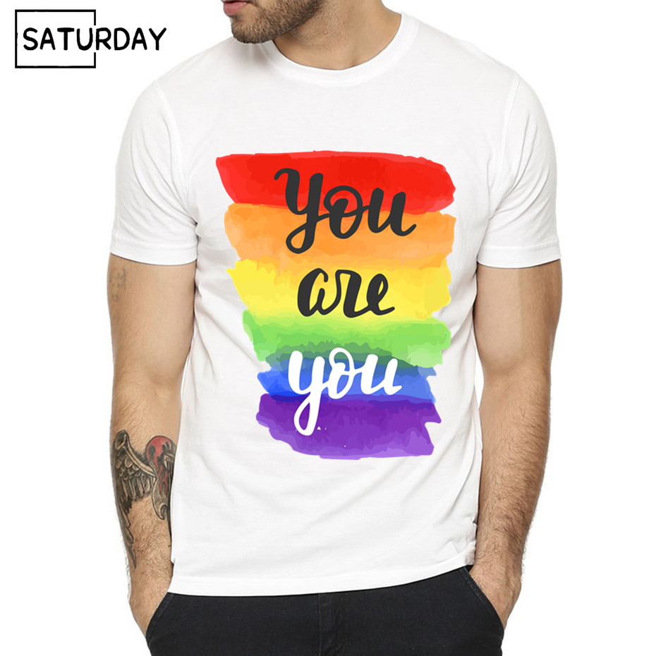 Pride Lgbt Gay Love Lesbian Rainbow Design Print T shirts for Man and Women  Summer Casual Love is Love Tee Shirt Unisex Clothes