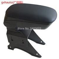 Big Black Storage Armrest Console Box With Leatherette Padding Center Console Universal Fit for 05 Scion XB mini cooper