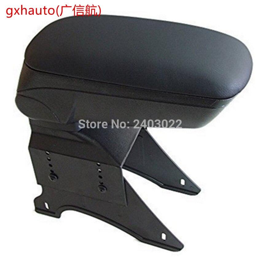 Grand Noir De Stockage Accoudoir Console Boîte Avec Similicuir Rembourrage Center Console Universal Fit pour 05 Scion XB mini cooper