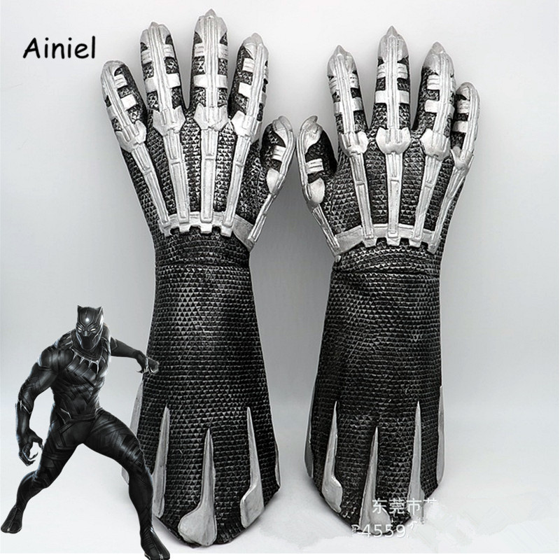 Ainiel Avengers: Infinity War Black Panther T'Challa Claw Gloves cosplay Prop Weapon Paw Glove For Adult Hallow Party Accerories