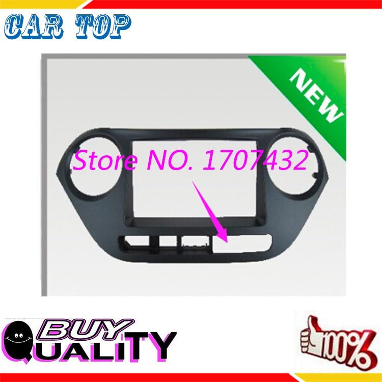 Guangzhou Rongsheng Car Decoration Top Quality free shipping 2DIN Dash Radio Facia for 2014 HYUNDAI i-10, i10(Low end)CD Panel Fascia Kit Fitting face Plate Frame