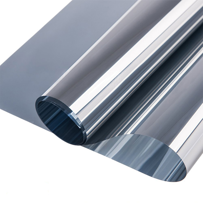 Custom size Silver Thermal Insulation Window Film Stickers Solar Reflective One Way Mirror film raamfolie statisch