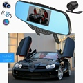 Car Rear View Mirror DVR with Dual Lens Dashcam 1080P Video Registrator Recorder G-sensor Motion Detection Dash Cam G30