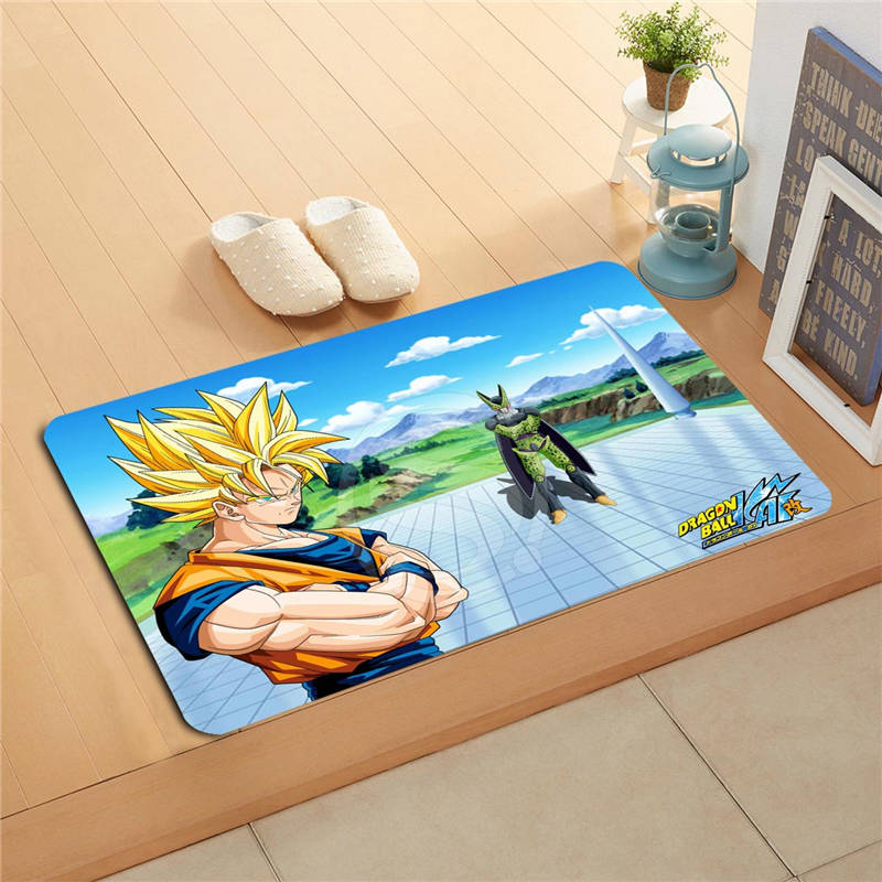 W620 2 Custom Dragon Ball Z Anime Watercolor Painting Doormat Home. Dragon Ball Z Bathroom Set   Kahtany