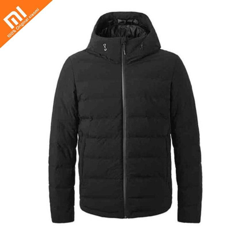 In magazzino Xiaomi norma mijia controllo della temperatura verso il basso giacca 90% piuma d'oca grigia di ricarica di alimentazione del tesoro di 38 a 50 gradi usb