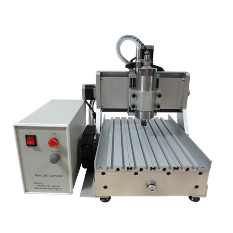 800W VFD water cooling spindle mini cnc router 3020Z ball screw cnc milling machine mach3 cnc milling machine 6040 4axis wood router with 800w water cooling spindle ball screw rotary axis