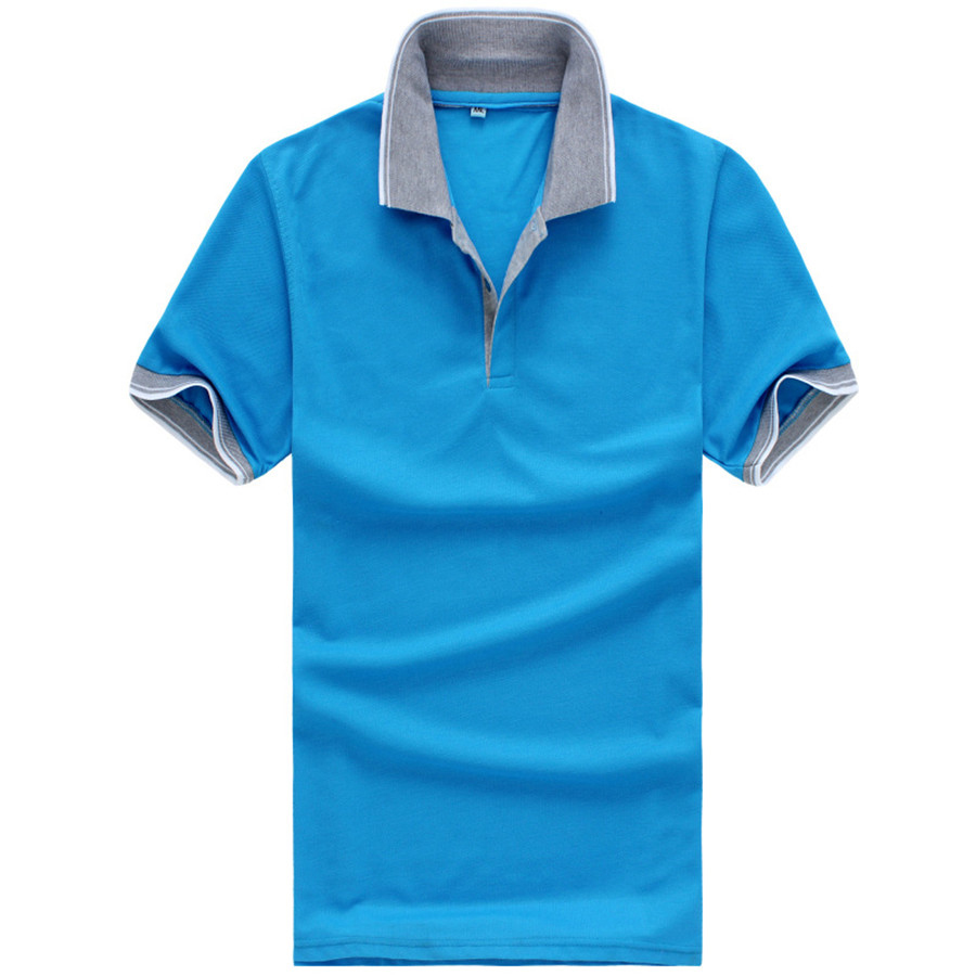2015 new real camisa solid polo shirt mens fashion cool design short - Men S Fashion Polo Shirt Summer Time Comfortable Polo Shirt Short Sleeve Solid Turn Down Collar Men S