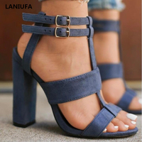 Летние женские туфли на высоком каблуке; женские классические туфли-лодочки на платформе с открытым носком и Т-образным ремешком; свадебные...