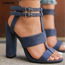 Summer Women High Heels Shoes Women ladies Classics Platform Peep Toe T-tied Pum