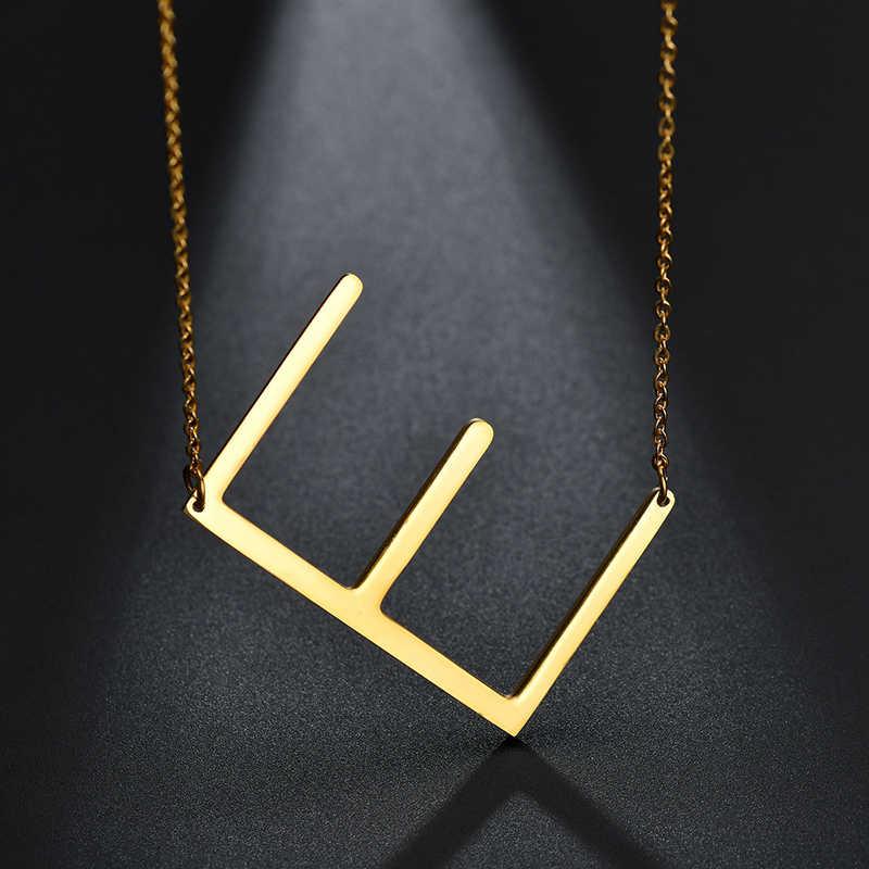 HOBBORN romantyczna para naszyjnik 316L ze stali nierdzewnej nigdy nie znikną duże litery kobiety mężczyźni miłośników wisiorki i naszyjniki biżuteria Bijoux