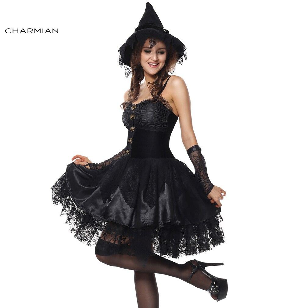 5db587c8c Charmian Sorceress Bruxa Gótico do Espartilho de Veludo Vestido Cosplay  Halloween para As Mulheres Fantasias Feminina de Para Festa em Fantasias  femininas ...
