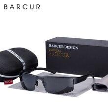 BARCUR Semi Rimless Polarized Aluminium Magnesium Sunglasses