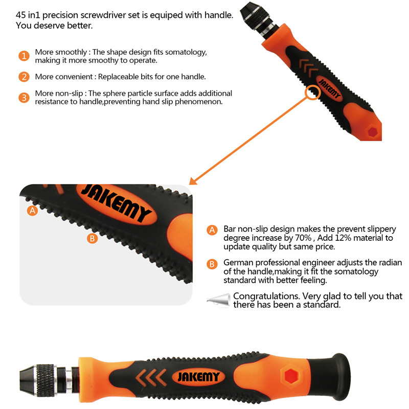 Interchangeable 45in1 Magnetic Precision Tool Set