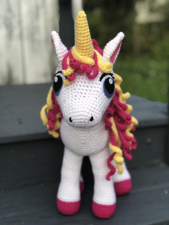 Crochet Armigurumi  Rattle  Fashion Unicorn    Model Number  876