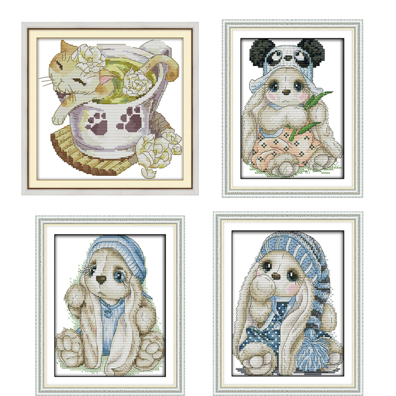 Useful Set For Embroidery Stitch Puppy And Football Chinese Counted Cross Stitch Pattern Kits Ponto Cruz Dmc Embroidery Home Decoration Cross-stitch