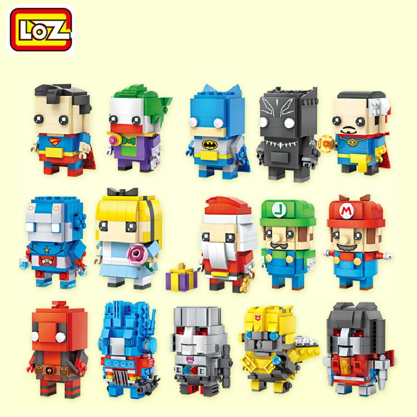 LOZ New Mini Blocks Small Building Toys Mario Auction Model Toy Juguetes Super Hero Toys Santa Gift for Girls 1701-1708 loz super mario kids pencil case building blocks building bricks toys school utensil brinquedos juguetes menino jouet enfant