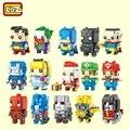 Loz nuevo mini bloques pequeño edificio juguetes mario auction model juguete juguetes super hero juguetes santa regalo para las muchachas 1701-1708