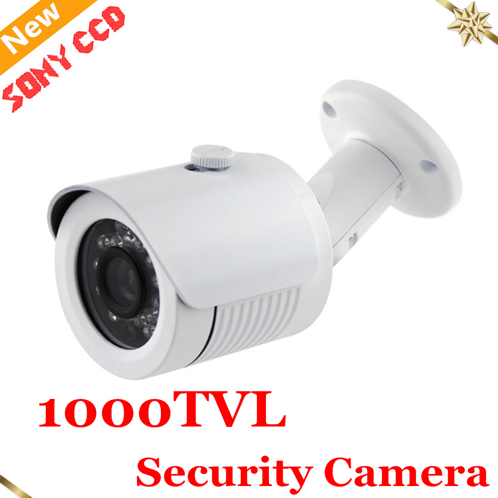 Newest Arrival Sony CCD 1000TVL Security Camera IP66 Waterproof Outdoor CCTV Camera Home Security Surveillance Camera Chamber newest arrival sony ccd 1000tvl hd cctv camera waterproof outdoor security camera 1 3 ir 100 meter free shipping