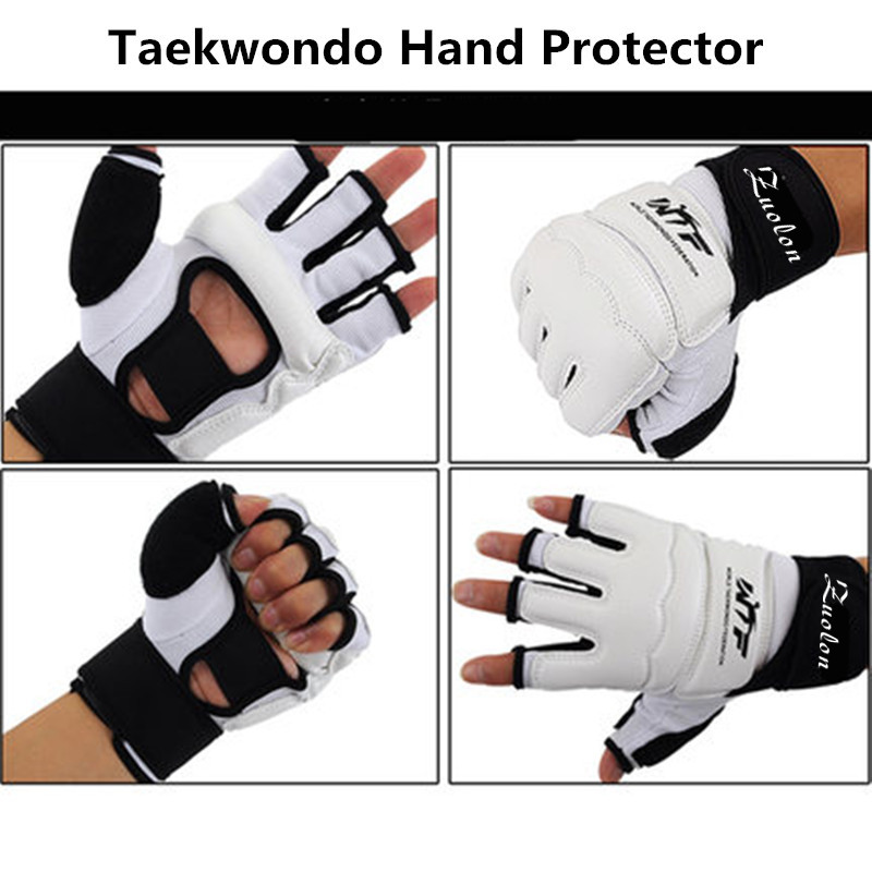 Kids Adult Half Finger Fight Boxing Gloves Mitts Sanda Karate Sandbag Protector for MMA Muay Thai Kick Boxing Training White gloves boxing gloves bessky® cool mma muay thai training punching bag half mitts sparring boxing gloves gym