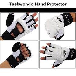 Kinder Erwachsene Half Finger Kampf Boxing Handschuhe Mitts Sanda Karate Sandsack Protector für MMA Muay Thai Kick Boxing Training Weiß