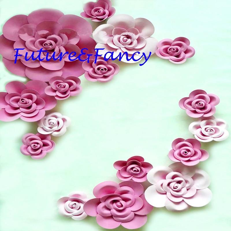 Giant hârtie spumă Rose flori decorative 16pcs Stadiu nunta Party - Produse pentru sărbători și petreceri