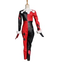 2018 Batman Cosplay Women's Cartoon Dress Movie Custom Made Harley Quinn Cosplay Harley Quinn Costume