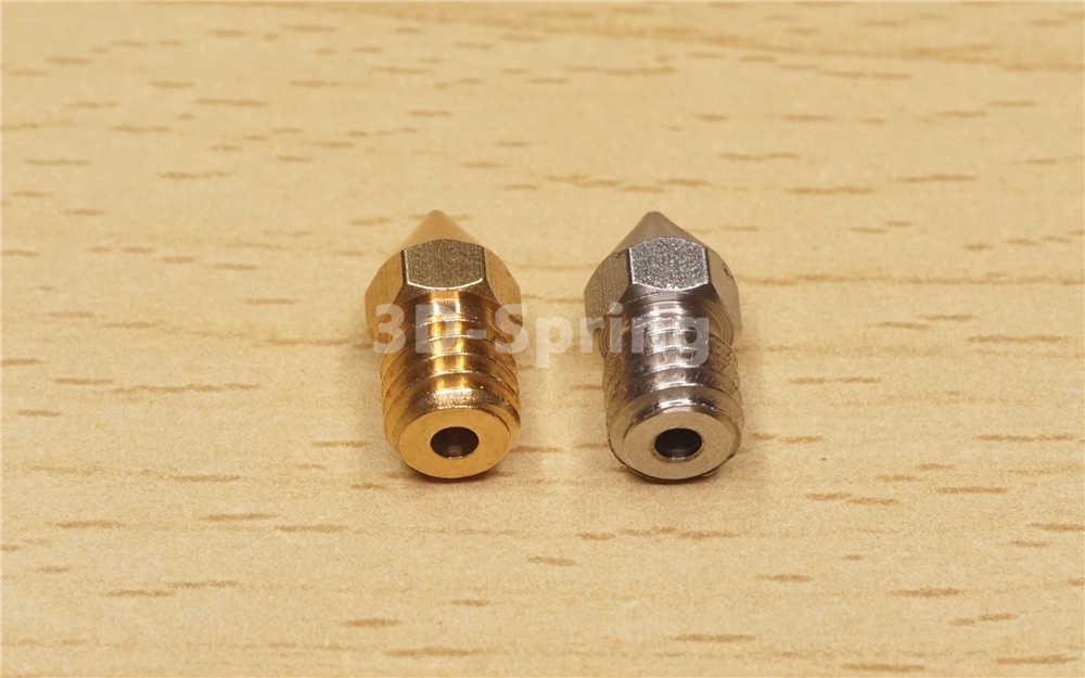MK8 Keskin Keskin Bakır (Pirinç) 0.2-1.0mm CR10 için 3D Yazıcı Creality Cr-10 Cr-10s Cr10s Ender 3 Hotend Ekstruder 1.75mm 3mm