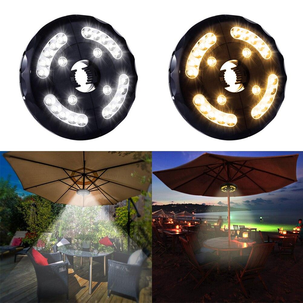 Usb חיצוני פולנים אוהל קמפינג אורות נטענת שמשייה Jardin Led עבור פנס חוף גן פטיו מטריית אור מנורה