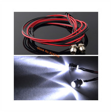 2x5mm LED Light System 2P White for RC 1 10 Drift Night headlamps headlights