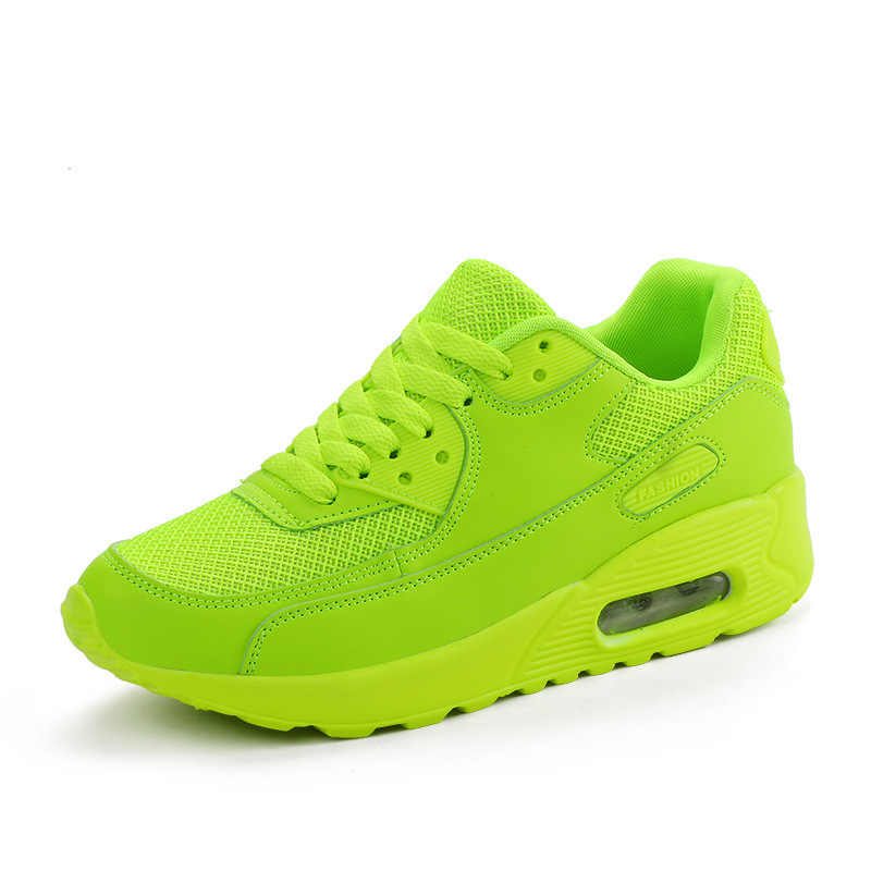 Unisex White Sneakers Men Women Neon