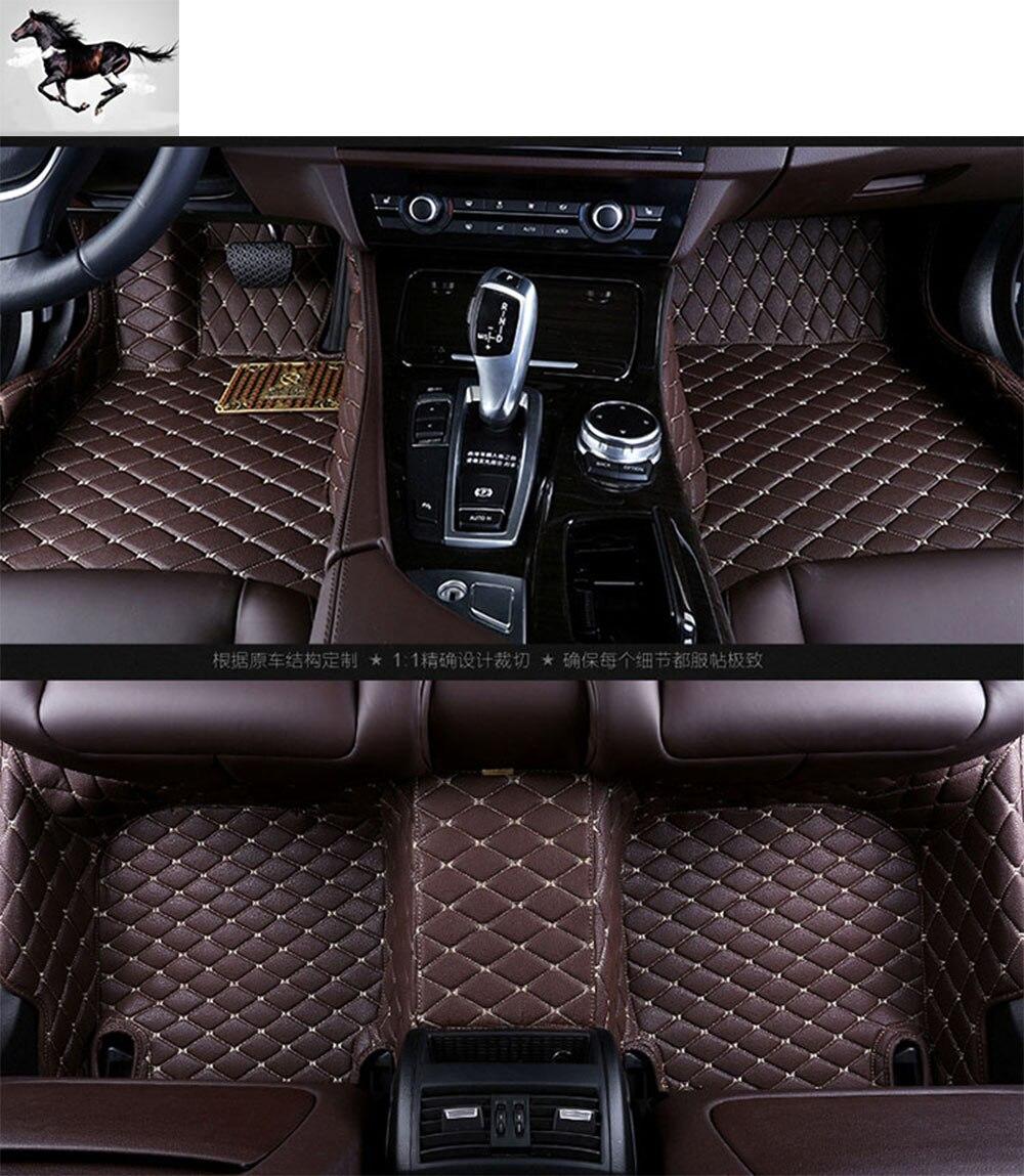 Q7 rubber floor mats - Custom Full Set Car Floor Mats For Audi Q7 Waterproof Leather 3d Floor Mats Carpets Car