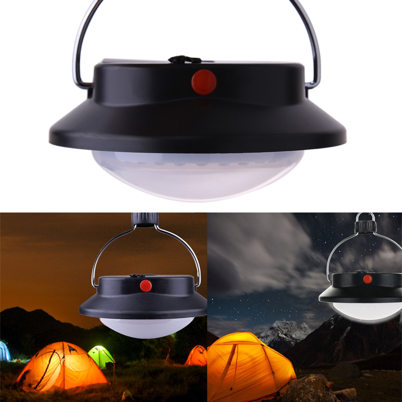 60-LED portatīvie kempinga pārgājienu lampas āra telts Umbrella gaismas baterijas darbināmā apgaismojuma lampiņa 3 režīmi āra gaismas rīki un piederumi
