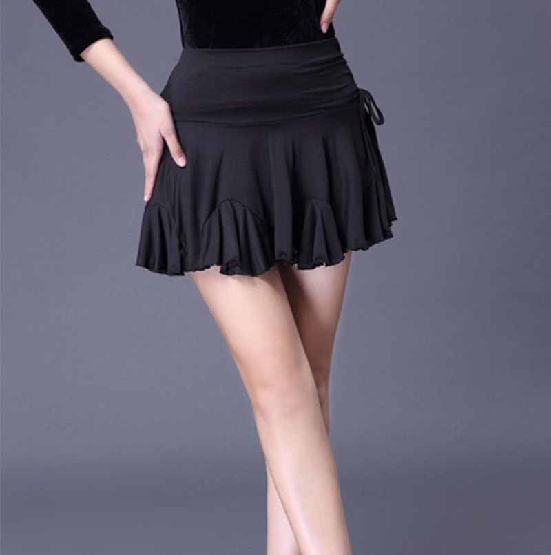 37bece3e45 Latin Dance Skirt Women's New Dance Skirt Black Women's Clothing Woman  Latin Dance Practice Skirt